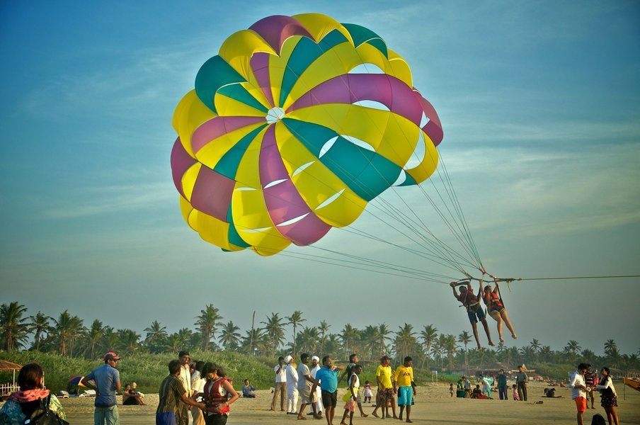 Winch Boat Parasailing at Mobor Beach - Tour