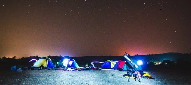 Stargazing and Camping