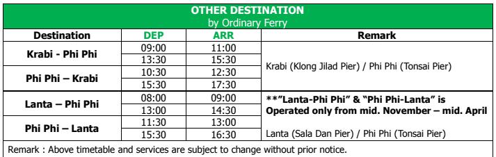 Phi Phi  -  Krabi - Lanta Ferry - Tour