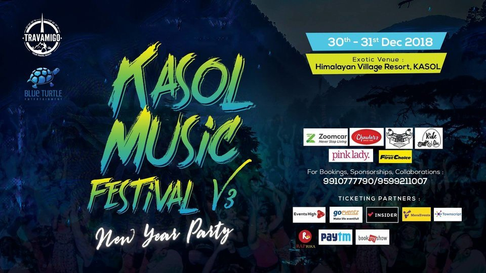 Kasol Music Festival V3 2018-19 2 Days Pass (30th DEC-31st DEC) - Phase 1 - Tour
