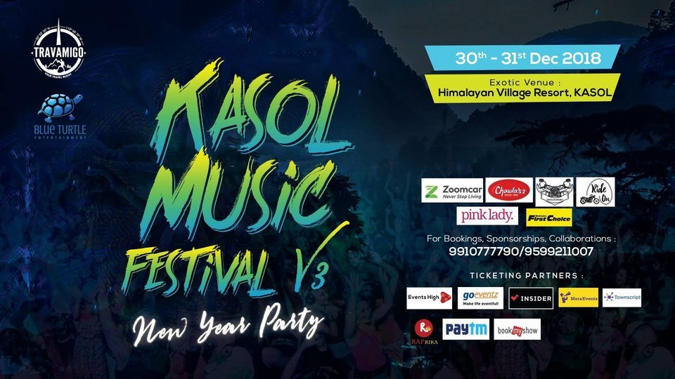 Kasol Music Festival V3 2018-19 2 Days Pass (30th DEC-31st DEC) - Phase 2 - Tour