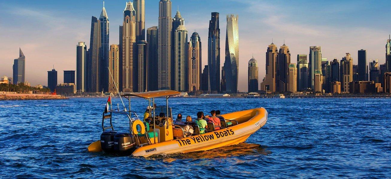 Dubai Palm Jumeirah and Palm Lagoon Boat Cruise - Tour