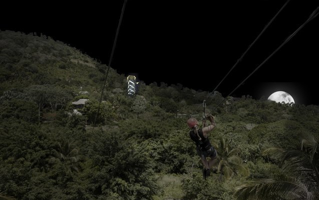 Night Zip Line Adventure - Tour