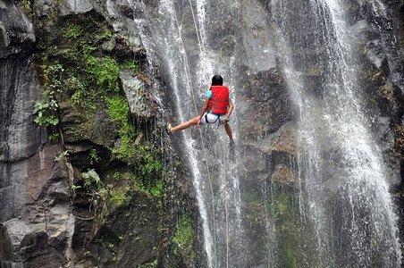 Waterfall Rappelling at Bekre