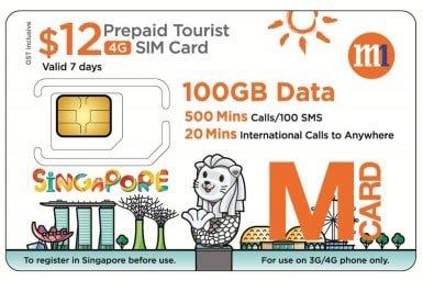 4G SIM Card (SG Pick Up) for Singapore - Tour
