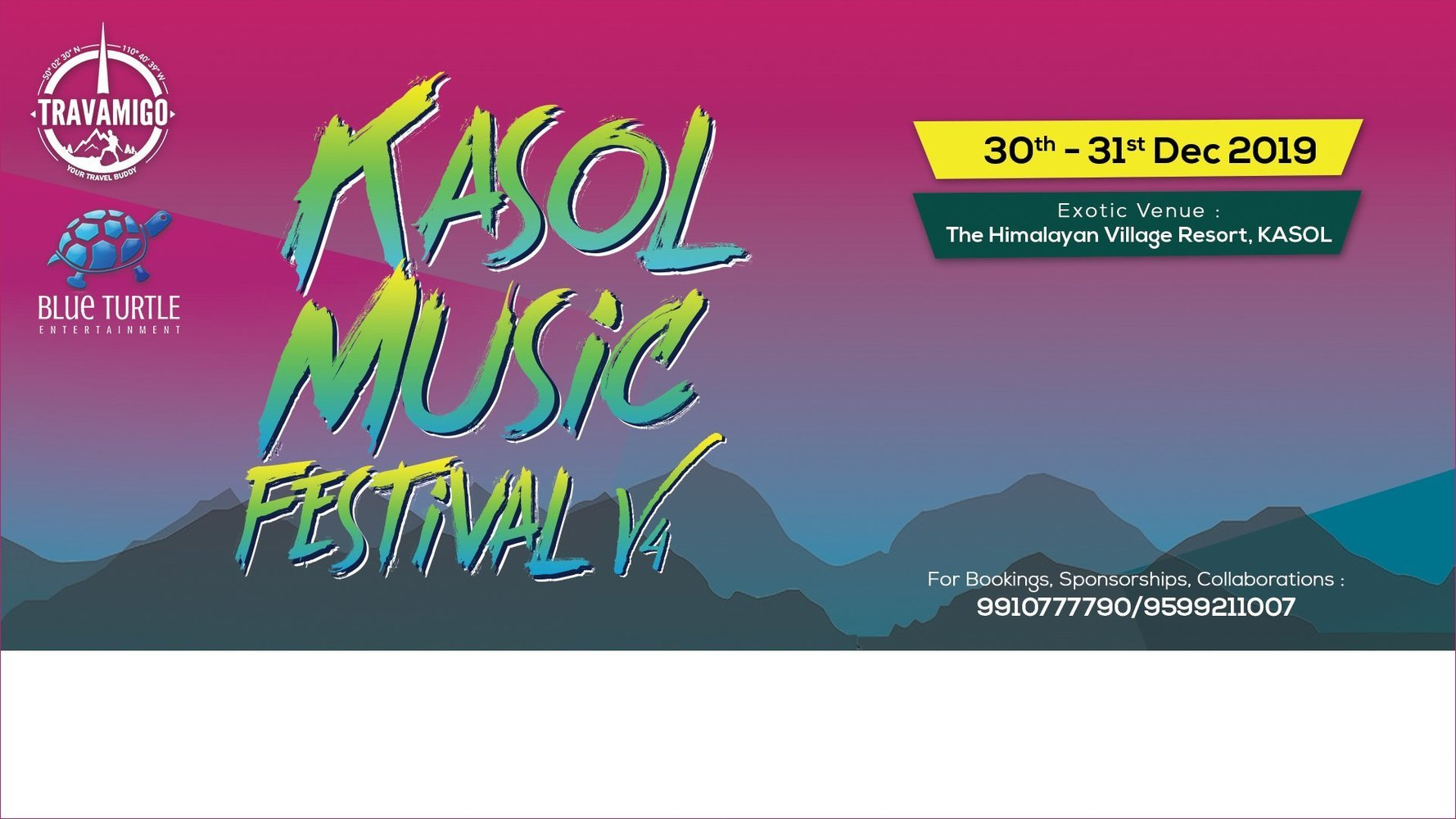 Kasol Music Festival V4 2019 New Year Party #KMFIndia - Tour
