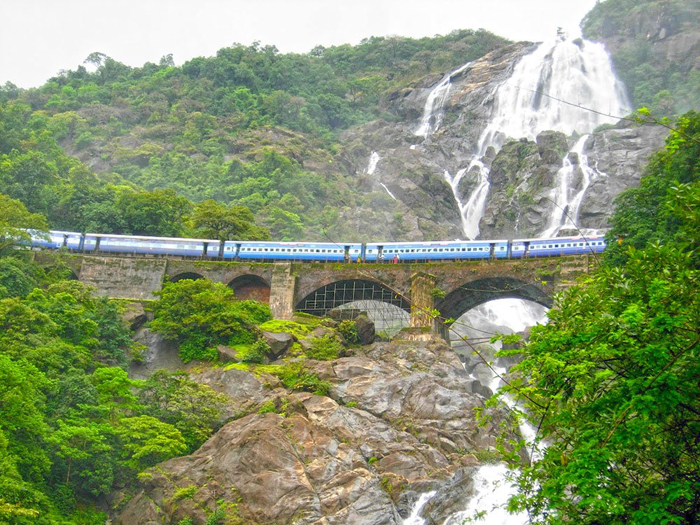 Image result for dudhsagar waterfall goa