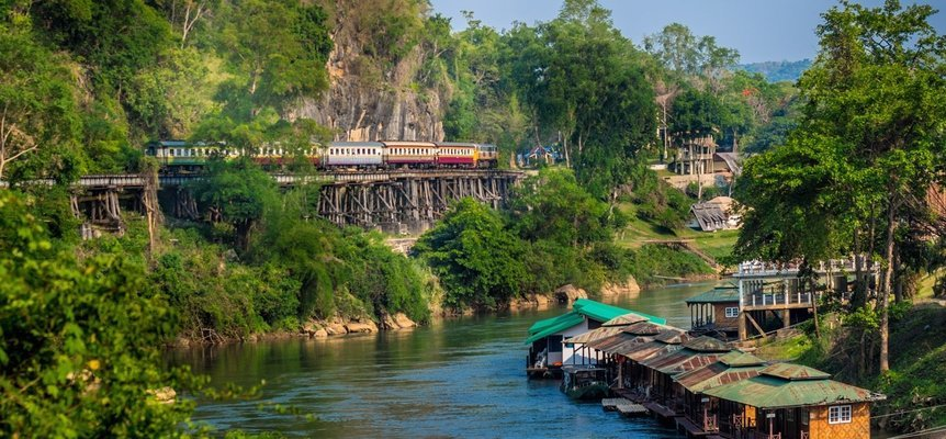 Damnoen Saduak Floating Market & River Kwai Tour with Lunch, Sightseeing in Bangkok - Tour