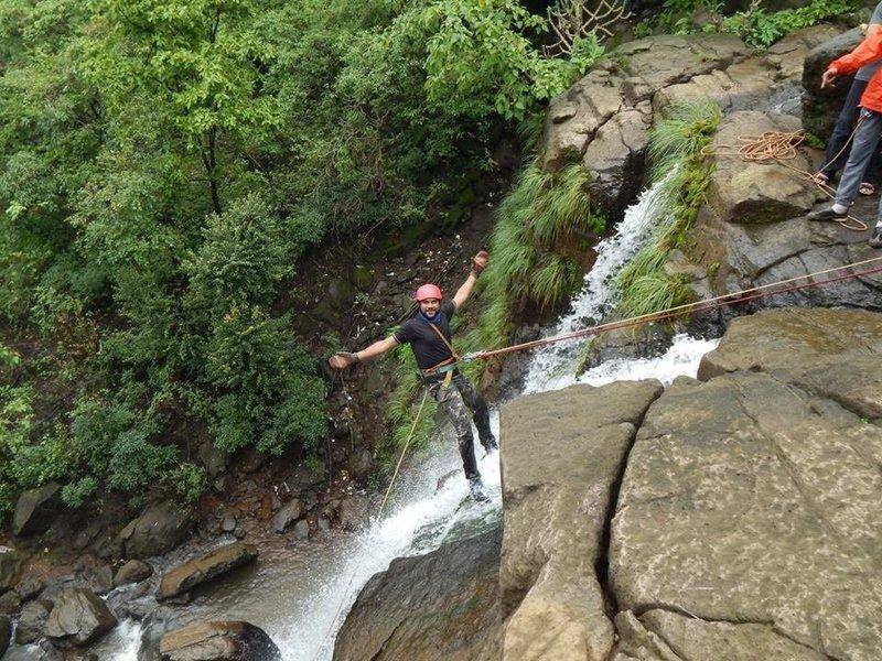 150 ft Temghar Waterfall Trek n Rappelling - Tour