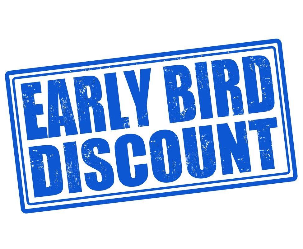 Early Bird Discount 15-25 Feb - Coupon