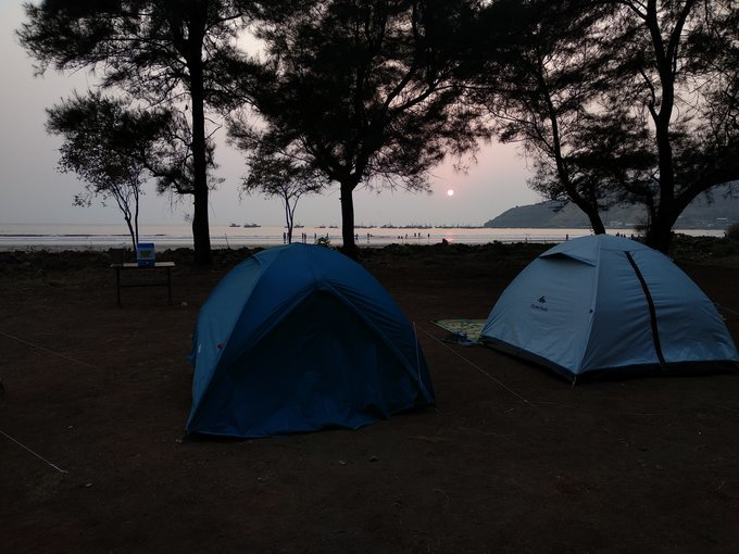 Beachside camping at Shrivardhan - Tour