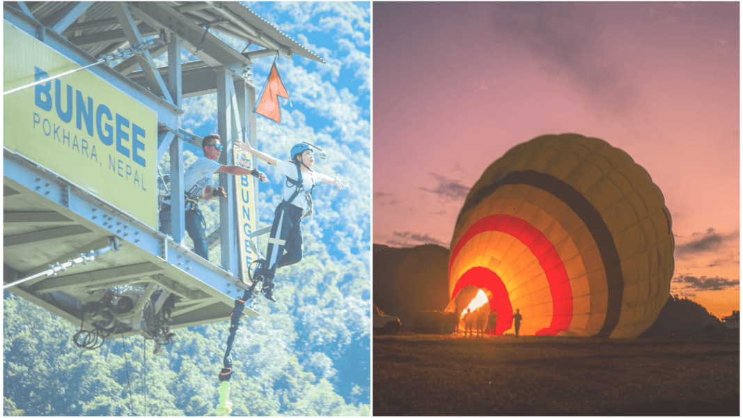 Bungee + Hot Air Balloon combo - Tour