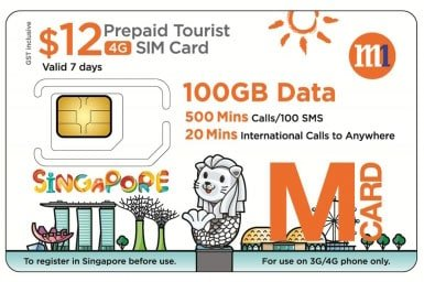 4G SIM Card (SG Pick Up) for Singapore - Tour