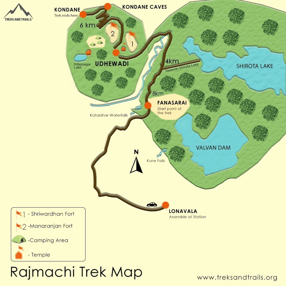 Rajmachi Fort Map