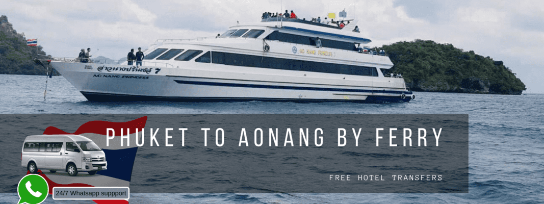 Ferry Ticket (One Way) between Phuket and Ao Nang (with Transfers) - Tour