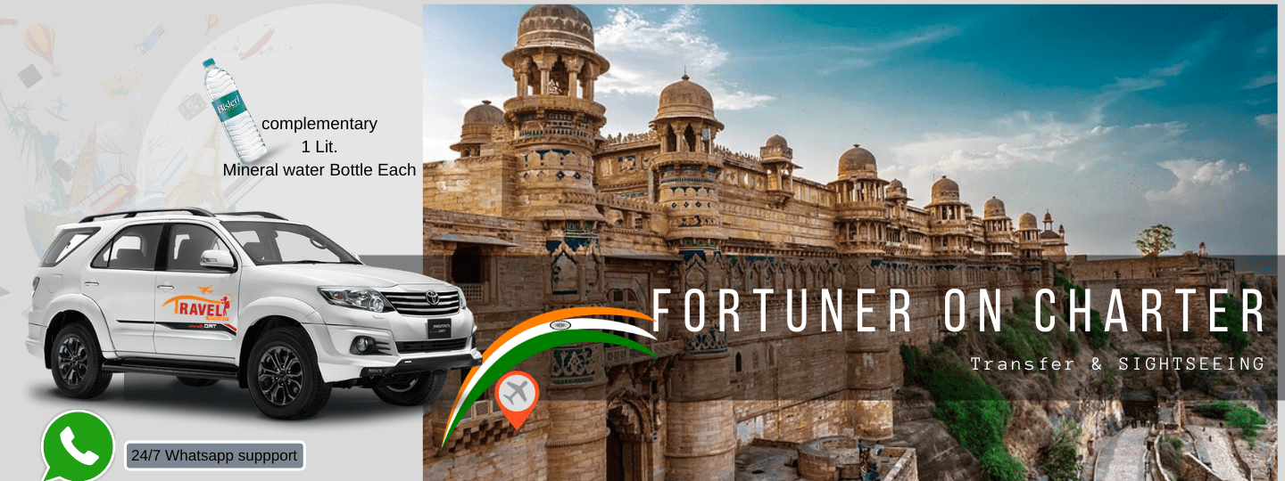 Fortuner On Charter in Gwalior - Tour