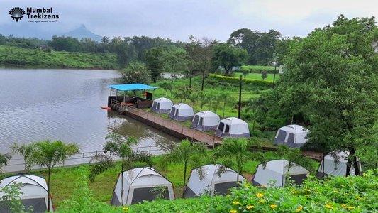 Lakeside Camping Near Karjat
