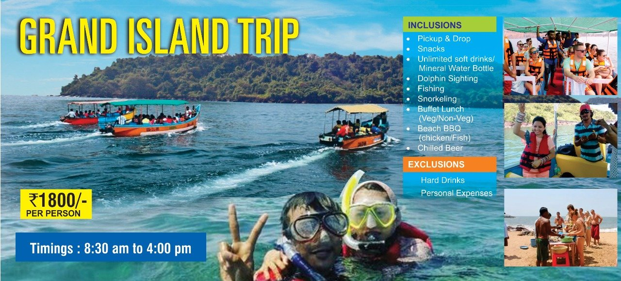 Grand Island Trip in Goa With Snorkeling & Dolphins - Tour